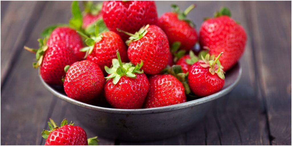 aliments pour perdre du poids fraises